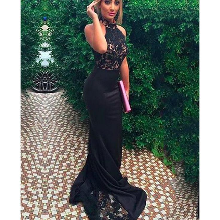 Black Prom Dresses,Mermaid Prom Dress,Lace Prom Dress,Lace Prom Dresses,2016 Formal Gown,Lace Evening Gowns,Party Dress,Lace Prom Gown For Teens