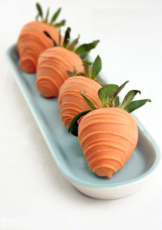 угощение в виде моркови на Пасху