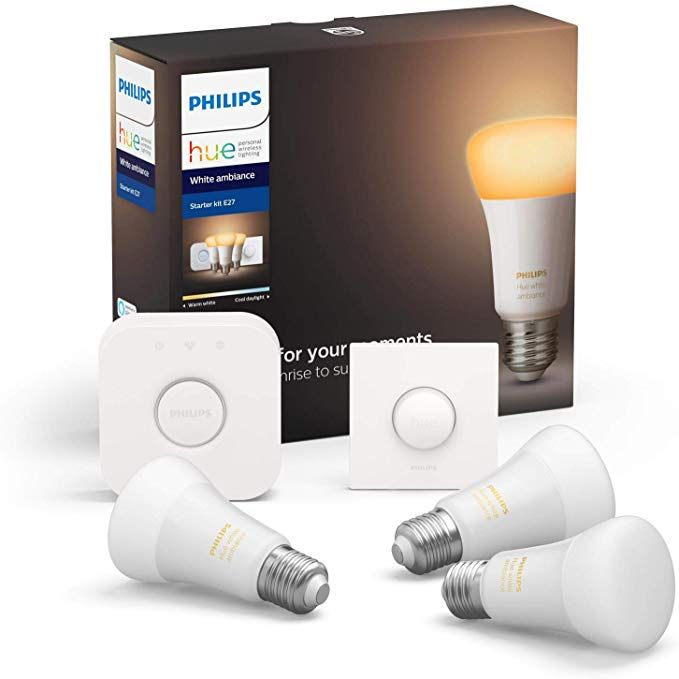 Hue White Amb E27 3er Starter Set 3x806lm Bluetooth 1x Smartbutton In 2020 Led Led Lampe Wandbeleuchtung