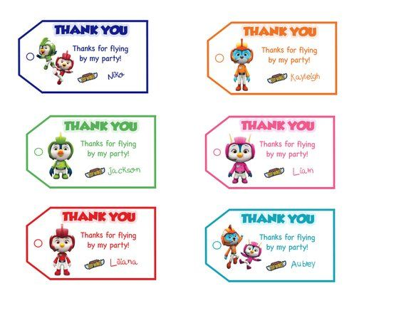 Treat bags Thank You Gift Personalized Party Favor Bag Label Printable