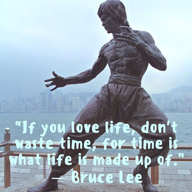 """If you love life, don't waste time, for time is what life is made up of."" — Bruce Lee ⠀⠀⠀⠀⠀⠀⠀⠀⠀⠀⠀⠀ ⠀⠀⠀⠀⠀⠀⠀⠀⠀⠀⠀⠀ #fontcandy #hero #brucelee #martialarts #kungfu #WednesdayWisdom #WednesdayWisdom #quotestagram #quotesdaily #quotesaboutlife #quoted"