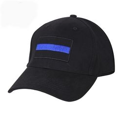 Show your support for law enforcement and police by wearing this Thin Blue Line base ball hat.