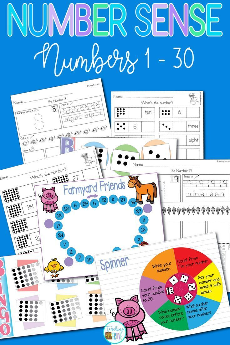 Develop Number Sense With The Numbers 1 30 Numbersense Numbersenseforkindergarten Numbersenseforf Number Sense Math Center Activities Guided Math Groups [ 1102 x 735 Pixel ]