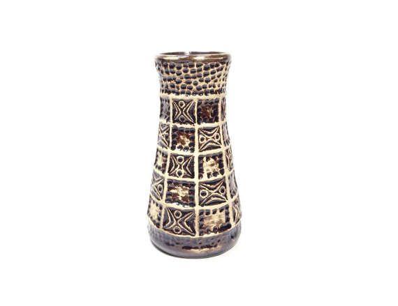 Vintage Vase Bay Keramik 60 17 West German Pottery by PeteStop