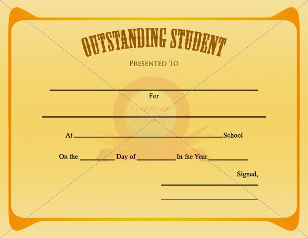 10 best STUDENT CERTIFICATE TEMPLATES images on Pinterest - membership certificate templates