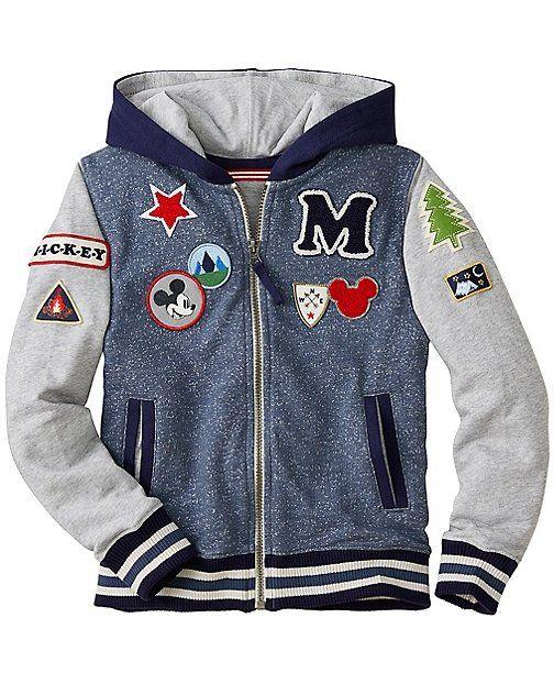 Disney Mickey Mouse Jersey Lined Hoodie from #HannaAndersson.
