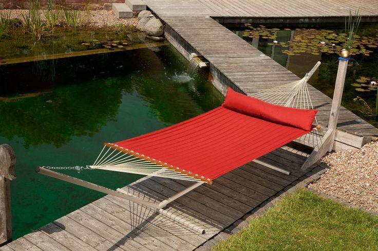 Oceano, de metalen hangmatstandaard, die speciaal is ontworpen voor 2-persoonshangmatten met stokken