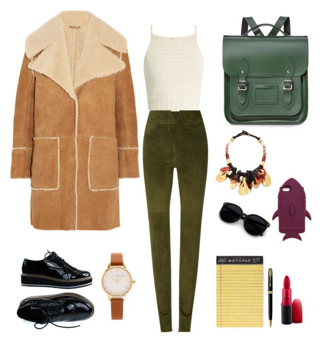 """""""Cambridge style"""" by mariapauladiaz142 on Polyvore featuring M.i.h Jeans, Isabel Marant, SHE MADE ME, Olivia Burton, The Cambridge Satchel Company, Lizzie Fortunato, Rifle Paper Co, Parker, MAC Cosmetics and STELLA McCARTNEY"""