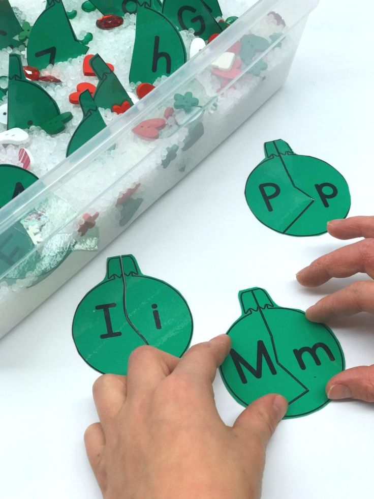 Capital & Lowercase Matching Ornaments (from A Differentiated Kindergarten)