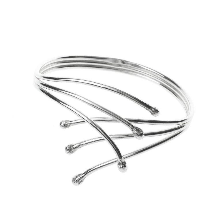 Willow, Stelt Armband - Silver Wijk - handgjorda silversmycken på nätet