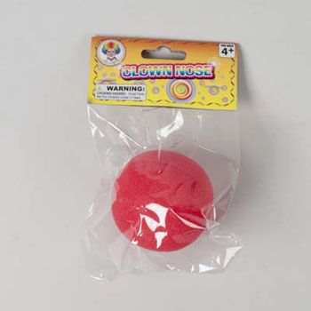 Clown Nose RED Foam 2.5IN Polybag/Header, Case Pack of 36