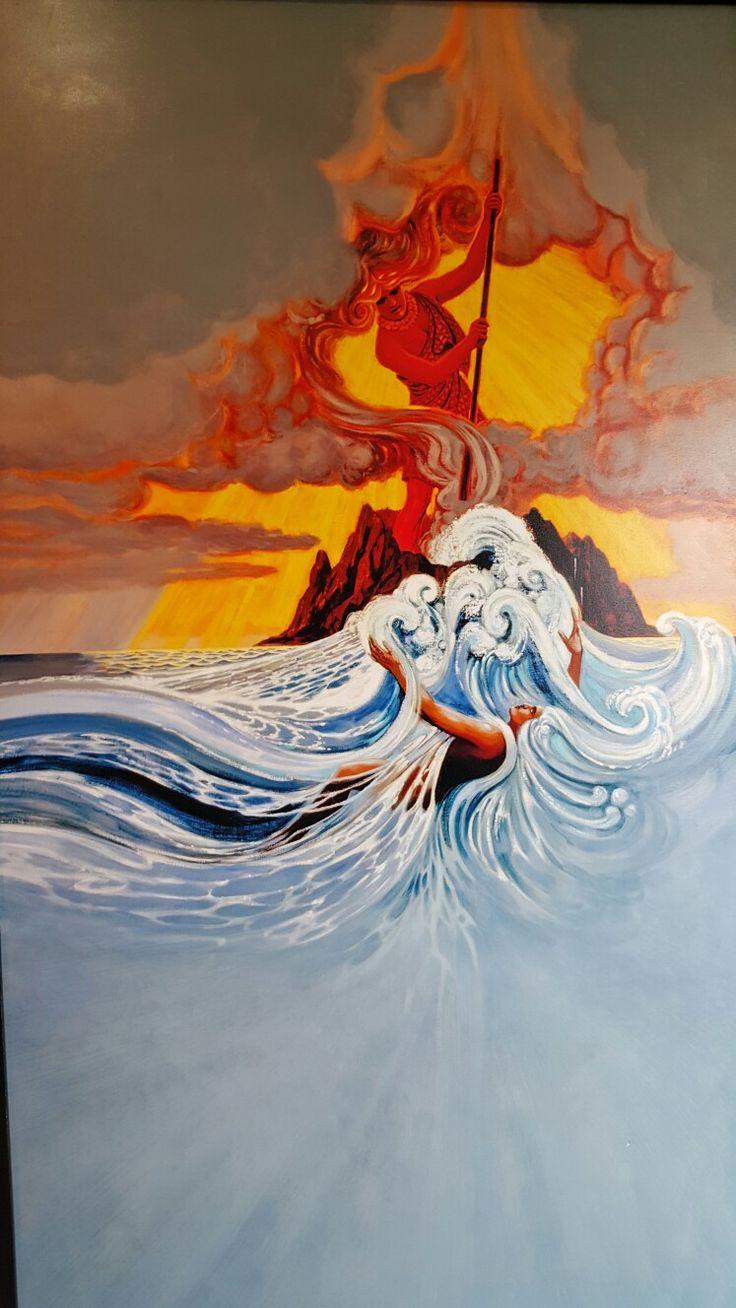 Hawaiian god art
