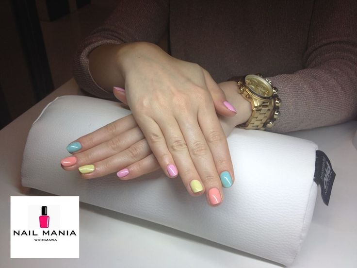 Spring summer pastel manicure - Semilac colours by Salon Nail Mania Warszawa ul. Sienna 72A lok.09 tel. 603-819-755