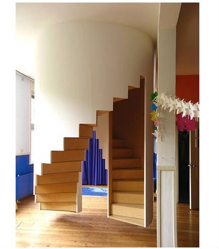 This Design Makes Sweeping Under The Stairs Easy A