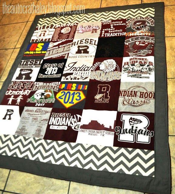 fleece backed t-shirt quilt