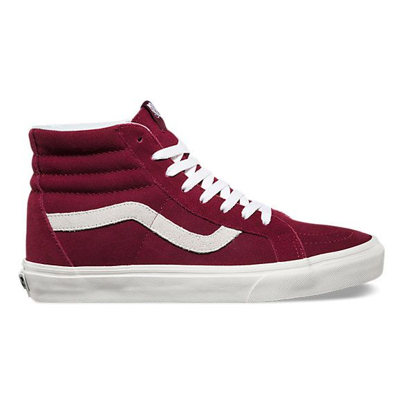 The Vintage Sk8-Hi Reissue, the legendary lace-up high top inspired by the Vans classic Old Skool, has been reissued with a vintage sensibility featuring sturdy canvas and suede uppers, re-enforced toecaps to withstand repeated wear, signature waffle rubber outsoles, and padded collar and heel counters for support and flexibility.