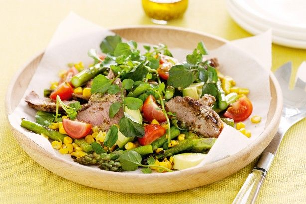 Toss together prime lamb and seasonal vegies for a special main-meal salad.