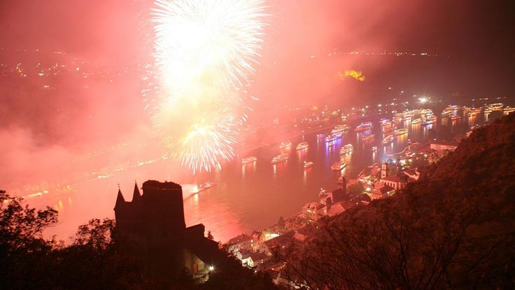 Rhein in Flammen are spectacular firework events held on the Rhine River at Bonn, St Goar, Koblenz, Rüdesheim and Oberwesel. Boat tickets se...