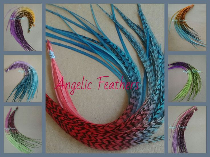Stunning Tye dye Ombre Feather Hair Extensions