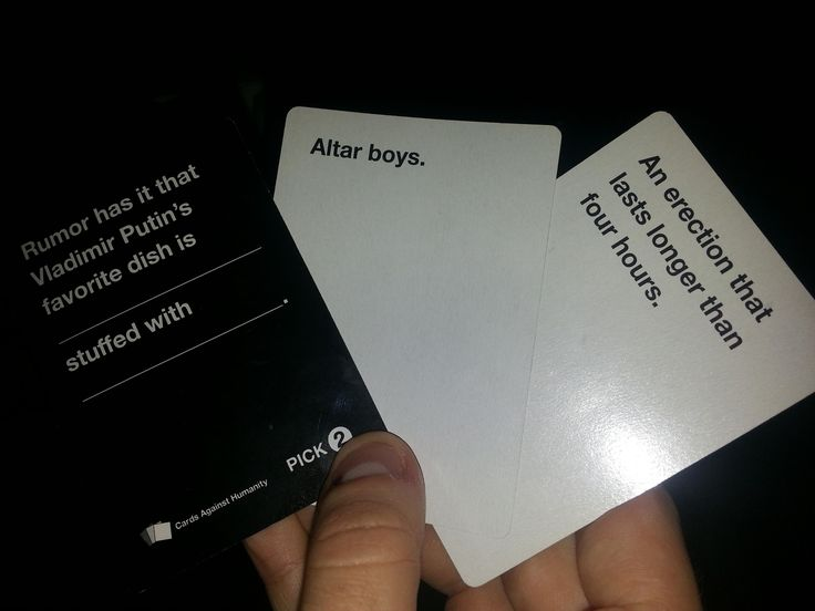 I WANT THIS GAME - cards against humanity
