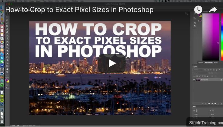 Follow along this video tutorial by Phil Steele to see how to crop your images to the exact pixel size you need in one step using Photoshop.