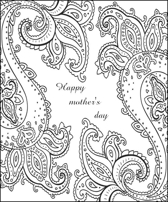 Happy mother's day card Mothers day coloring pages