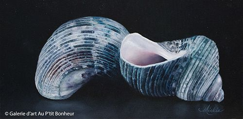 Mickie Acierno, 'The Ying, The Yang', 12'' x 24'' | Galerie d'art - Au P'tit Bonheur - Art Gallery