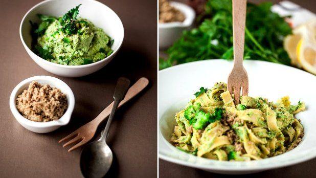 Brokolicové tagliatelle s oříškovým parmazánem Foto: