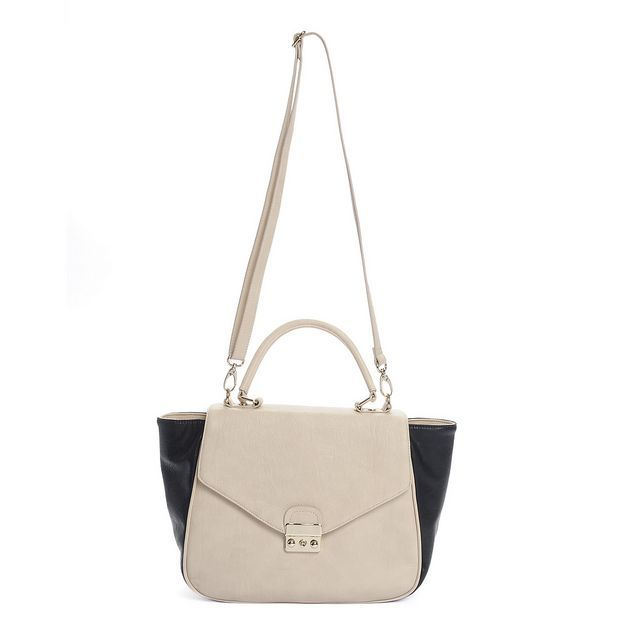 EXPRESS FALL 2013 PIN TO WIN #CONTEST  #purse #handbag #trapeze #twotone #black #white #shoulderbag #stylish #chic