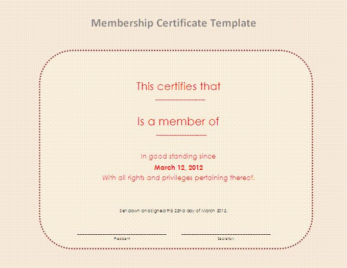 15 Best Membership Certificate Template Images On Pinterest