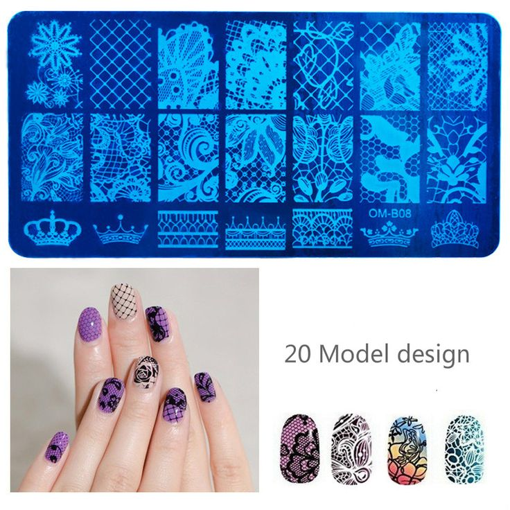 Stainless Steel Nail Art Stamping Plates Geometric patterns Monroe Madonna Sports Nails Template Stamp♦️ SMS - F A S H I O N  http://www.sms.hr/products/stainless-steel-nail-art-stamping-plates-geometric-patterns-monroe-madonna-sports-nails-template-stamp/ US $1.14