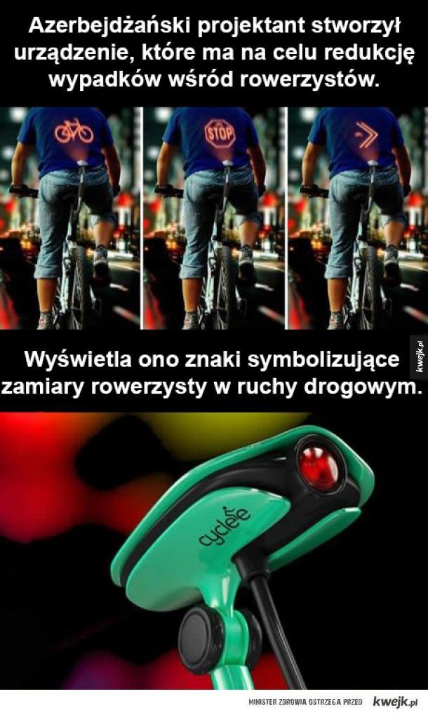 Ciekawe urządzenie dla rowerzystów