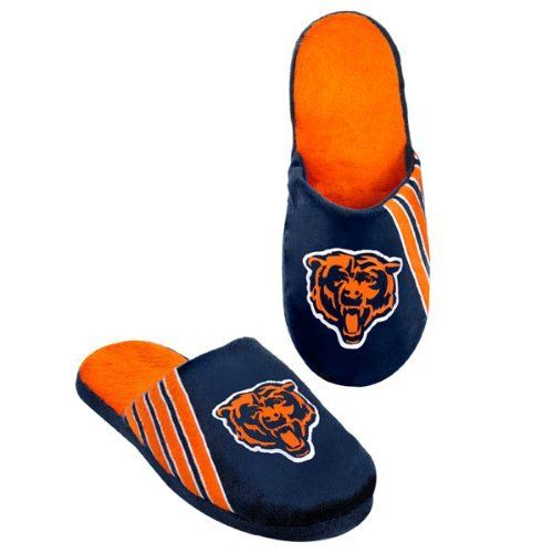 Chicago Bears Hard Sole Stripe Slipper by Forever Collectibles. $24.70. Kick back and relax with these comfy Chicago Bears Hard Sole Stripe Slippers. These cozy Bears slippers are made by Forever Collectibles and feature vibrant team colors, embroidered details and hard bottoms. Keep your feet toasty all year long and score these spirited Chicago Bears slippers today!