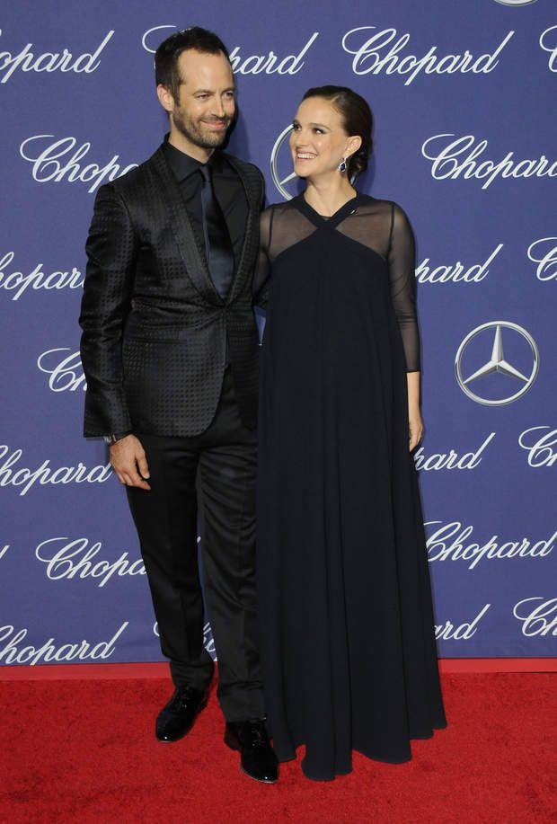 Benjamin Millipied et sa femme Natalie Portman très enceinte, le 2 janvier 2017Benjamin Millipied et sa femme Natalie Portman enceinte lors de la soirée de gala du festival international du film de Palm Springs au centre de congrès de Palm Spring, Californie, Etats-Unis, le 2 janvier 2017.