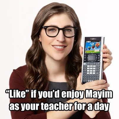 Enter the Take Mayim Back to School contest now! http://on.fb.me/IA5nhI