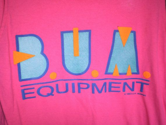 Vintage Bum Equipment Tee Shirt 80s
