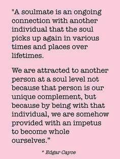 I don't think I believe in soulmates. I believe two people work hard & constantly choose each other.
