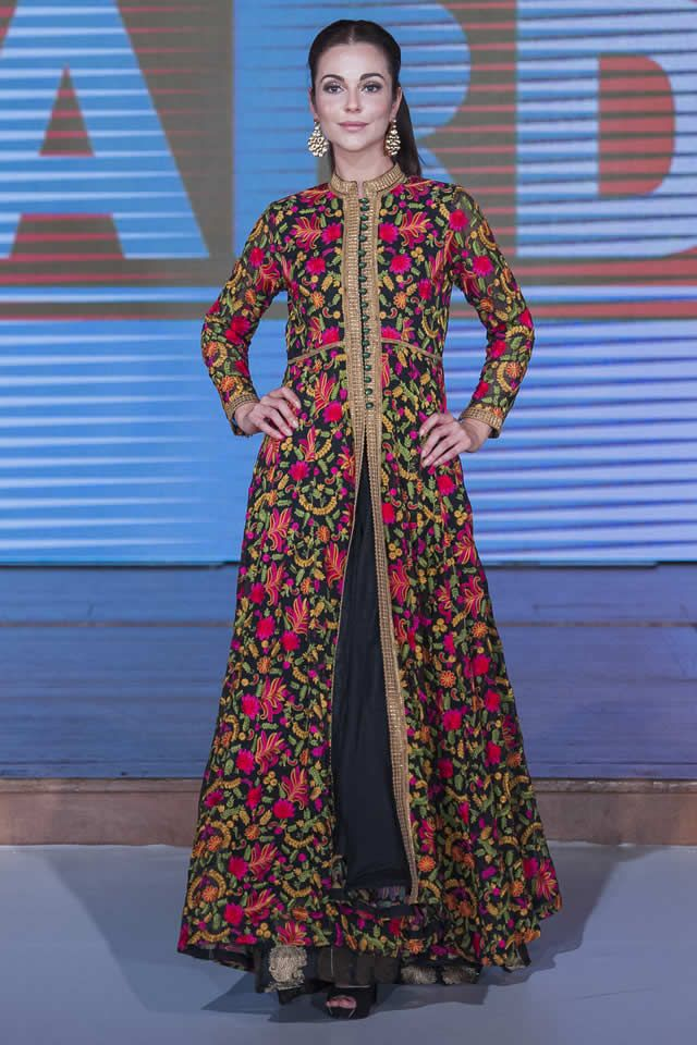 2015 Pakistan Fashion Week 8 London Warda Prints Latest Dresses Picture Gallery
