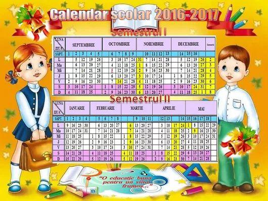 Calendarul școlar RM - Banca de memorie a copiilor