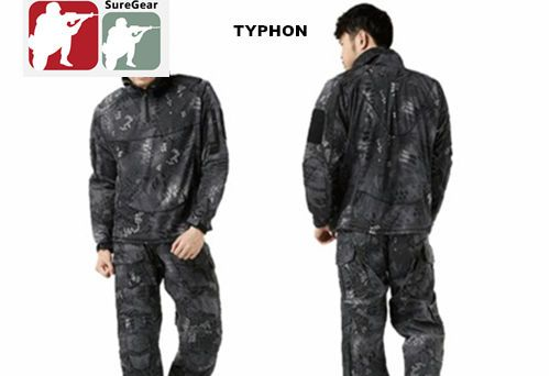 TYPHON-Combat-Shirt-Pants-Tactical-Suit-Set-Kryptek-Special-Forces-SWAT-Black