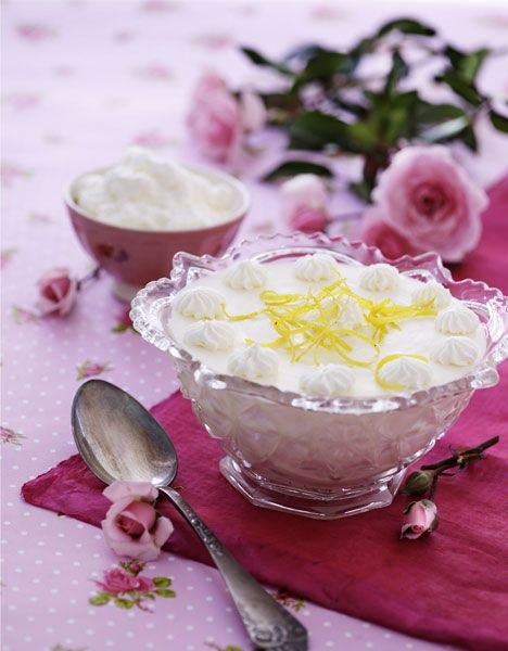 Citronfromage fra oldemors dessertbog