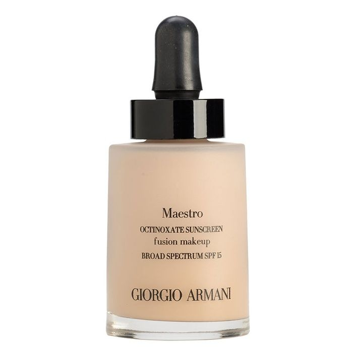 Rank & Style - Giorgio Armani 'Maestro' Fusion Foundation Broad Spectrum SPF 15 #rankandstyleGIORGIO ARMANI 'MAESTRO' FUSION FOUNDATION BROAD SPECTRUM SPF 15 Instantly illuminating, this department store foundation will enhance your complexion, while covering up blemishes. Suitable for all skin types
