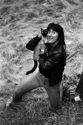 Steve Perry & his Siamese cat.