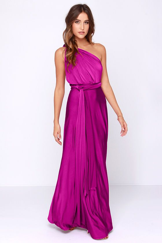 Always Stunning Convertible Magenta Maxi Dress at Lulus.com!