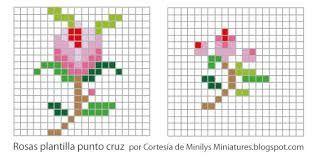 Resultado de imagen para GRAFICOS FLORES PEQUEÑAS PINTEREST PUNTO DE CRUZ