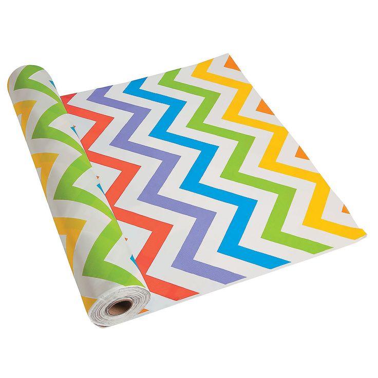 Amazing Chevron Plastic Tablecloth Roll