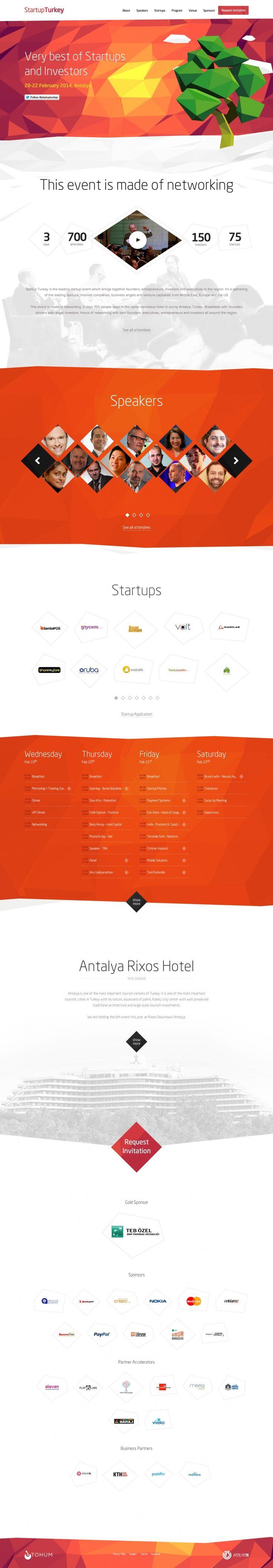 Screenshot of Bootstrap site: StartupTurkey 2014