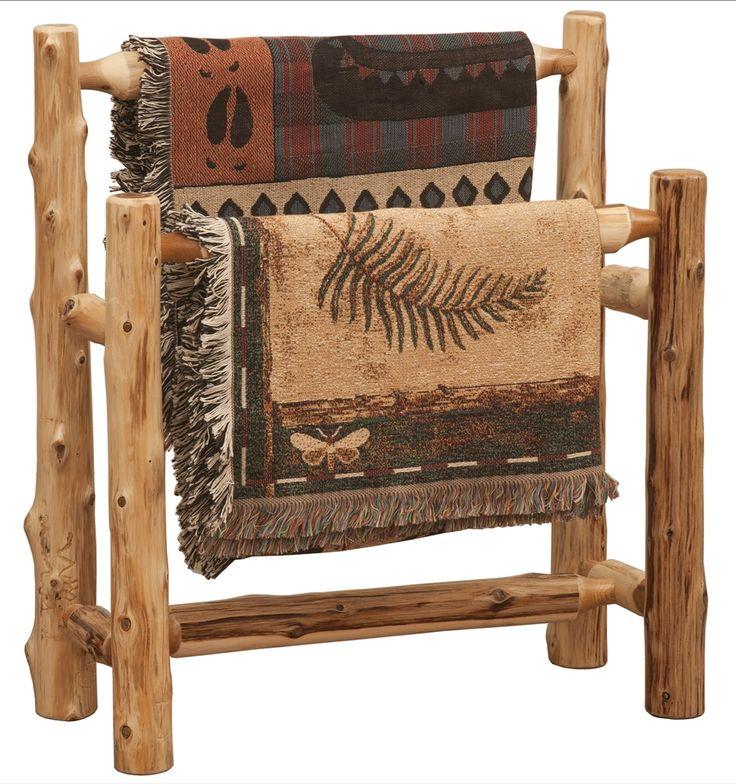Cedar Log Double Quilt Rack