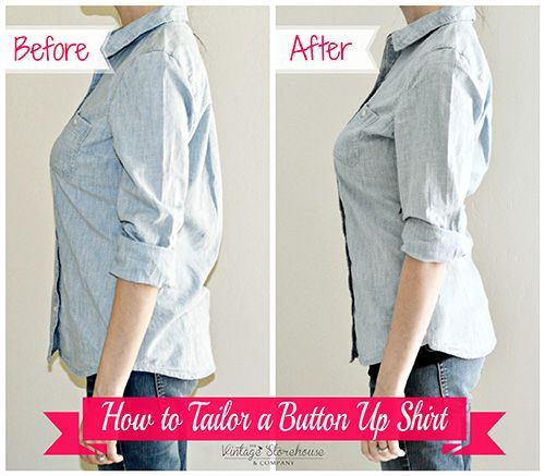 How to Tailor or Shirt for a Perfect Fit by Vintage Storehouse Co. Perfect for busty women.