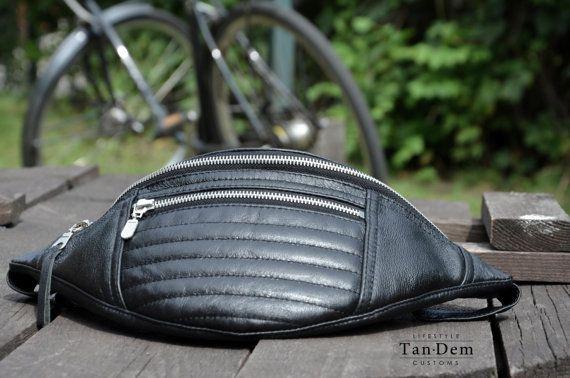 Men leather waist bag / bumbag / hip bag / fanny by TanDemCustoms